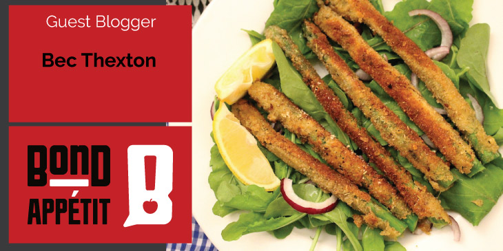 Crumbed Asparagus Salad (and the spring countdown) - by Dancing through Sunday Food Blog