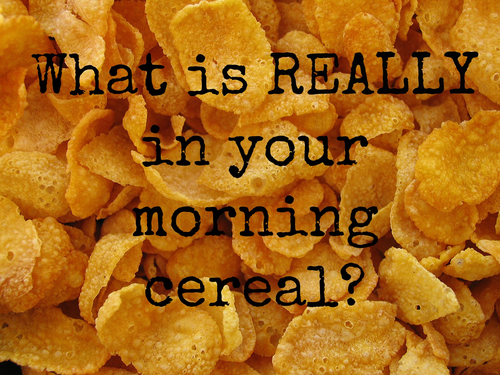 What is really in my cereal?